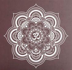 Pinturas Murais Grande Decalque Da Parede Do Vinil da Mandala Yoga Adesivo Menhdi Lotus Padrão Grande Ornamento Om Indiano Mural Home Decor em Papéis de parede de Em casa, Kitchen & Jardim no AliExpress.com | Alibaba Group