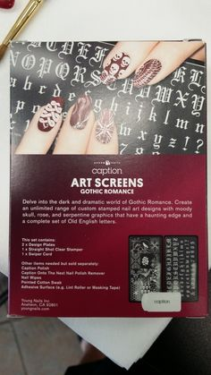 Young Nails Stamping Plates! I'm grooving on the fonts!