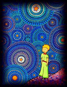 The Cosmic Little Prince by Elspeth McLean Original Paintings, Aboriginal Art, Dots Art, Mandala, Postcard, Mosaic, Art, Artsy, Elspeth Mclean