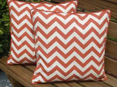 orange chevron pillows