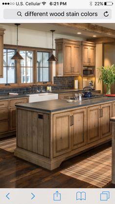 Update Kitchen Cabinets, Rustic Kitchen Cabinets, Painting Kitchen Cabinets, Kitchen Redo, New Kitchen, Kitchen Remodel, Kitchen Ideas, Kitchen Designs, Barn Kitchen