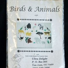 CRAFTS Uncut APPLIQUE PATTERN53 1996 Ultra Delight 149 Birds & Animals 4-oz