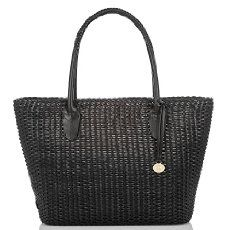 The Brahmin Nantucket Tote in Black Nantucket