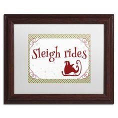 Trademark Art 'Sleigh Rides Banner' by Jennifer Nilsson Framed Textual Art Size: 1