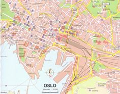 Maps of Scandinavia: Map of Oslo