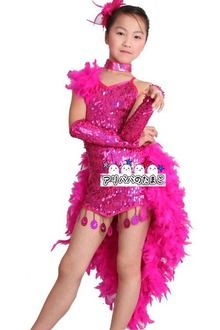 The / dance presentation that all three colors of kids dance clothes spangles no sleeve / kids Latin clothes / kids Latin dance dress kids lateen leotards child service DANCE/ has a big for size is matching!