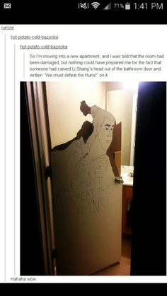Li Shang on a door Stupid Funny Memes, The Funny, Really Funny, Funny Quotes, Hilarious, Disney Memes, Just For Laughs, Funny Tumblr Posts, Laugh Out Loud