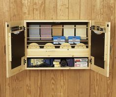 Get-It-All Together Sandpaper Cabinet Woodworking Plan, Workshop & Jigs Shop Cabinets, Storage, & Organizers