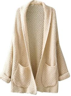 Cozy Loose Knit Beige Hollow Batwing Sleeves Sweater | Knitting ...