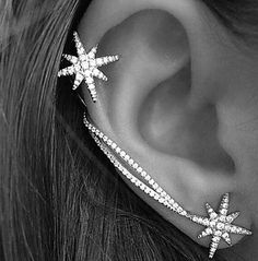 Specifications Jewelry Type Ear Cuffs Occasion Wedding, Casual, Daily, Party Length of Earrings (CM) 5 Width of Earrings (CM) 1.5 Net Weight (Kg) 0.005 Material Shown Color Silver Material Rhinestone,