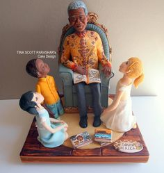 My Gold and 2nd prize entry at CI London -- The Legacy of Mandela - Cake by Tina Scott Parashar's Cake Design