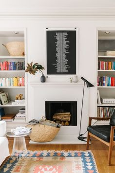 Hang art behind couch with clips