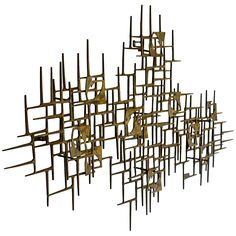 Large Nail Art Wall Sculpture by Mark Weinstein 1974 | From a unique collection of antique and modern wall-mounted sculptures at http://www.1stdibs.com/furniture/wall-decorations/wall-mounted-sculptures/