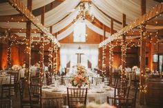 Wedding Venues Rustic wedding reception decor idea - barn wedding venue with draped fabric and twinkle lights {Holly Heider Chapple Flowers Ltd. Wedding Venues In Virginia, Cheap Wedding Venues, Rustic Wedding Reception, Barn Wedding Venue, Chic Wedding, Wedding Ideas, Budget Wedding, Barn Weddings, Winter Weddings