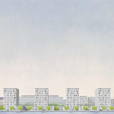 Tower and Plinth. Proposal for affordable housing in the Merihaka district, Helsinki, 2014