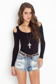 Erika Cutout Top - Black