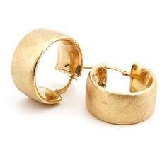 Pendientes de aro de oro semipulido Valwery. Valwery. Disponibles tienda online Valwery.com