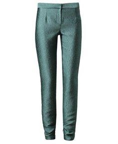 CHALAYAN   Textured jacquard trousers