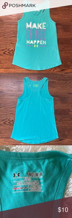 Under Armour Girls Tank size M Tank - Make Things Hapoen For Girls By Under Armour Size Medium Under Armour Shirts & Tops Tank Tops