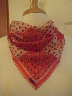 RARE Vera Neumann Ladybug Print Pat Pending Silk by MainelyScarves