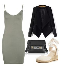 """""""Sem título #748"""" by foreversingle11 ❤ liked on Polyvore featuring Boohoo, Soludos and Proenza Schouler"""
