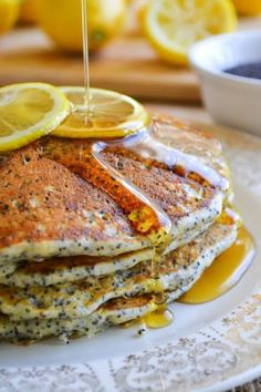 Lemon Poppy Seed Pancakes Recipe