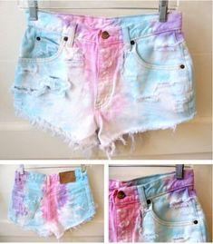 tye-die shorts