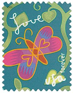 2011 44c Garden of Love-Butterfly stamp