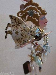 RARE RETIRED Fanciful Flights SNOW ANGEL Ornament KAREN ROSSI SILVESTRI NIB