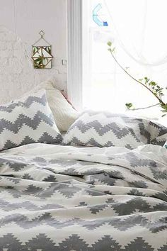 Magical Thinking Geo Chevron Duvet Cover - Urban Outfitters