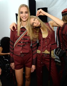 Models Backstage at the #TommyHilfiger Show in one of the hottest colors for fall #burgundy