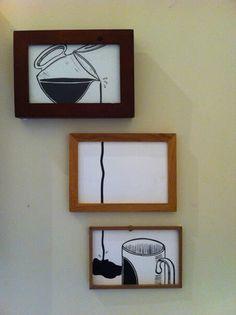para la cocina Diy Paper Crafts diy useful paper crafts Coffee Bar Home, Coffee Love, Coffee Art, Diy Kitchen Decor, Kitchen Art, Diy Home Decor, Coffee Shop Design, Cafe Design, Wood Crafts