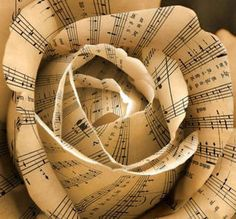 music note paper flowers