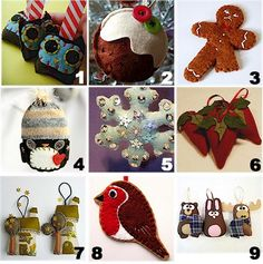 cute felt ornaments on etsy