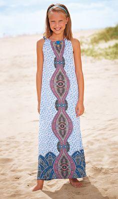 From CWDkids: White Paisley Maxi Dress.