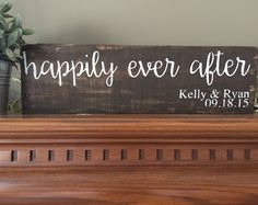 Happily Ever After Sign, And They Lived Happily Ever After Wedding Sign, Reclaimed Wood Sign, Custom Pallet Art, Wedding Date Sign