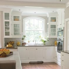 Gray and white kitchen. (The New Traditional - traditional - kitchen - philadelphia - by Kitchens by Eileen)