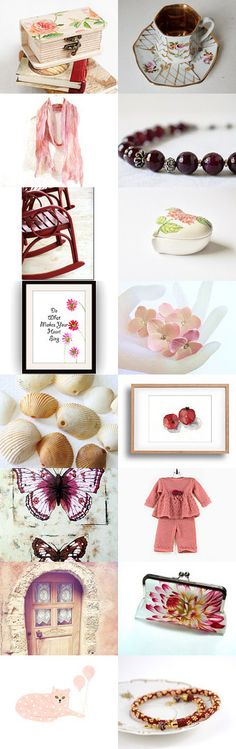Garnet and Peaches by Linda Karen on Etsy--Pinned+with+TreasuryPin.com