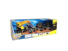 Hot Wheels Monster Jam Tour Favorites. Package Includes the following vehicles: El Toro Loco, Grave Digger The Legend, Monster Mutt Rottweiler and Batman. Monster truck Die Cast 1:64 version of the real thing.  Available at OurPamperedHome.com
