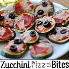 zucchini pizza bites, clean appetizers, healthy appetizers, A fit nurse, Alyssa Schomaker