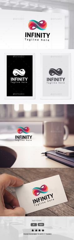 Infinity  Logo Design Template Vector #logotype Download it here: graphicriver.net/...