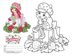 strawberry shortcake coloring pages | Free Strawberry Shortcake ...