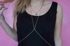 DIY - miley cyrus inspired body chain | Calvi Rose
