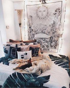 34 Awesome Bohemian Master Bedroom Design Ideas – Most Beautiful Furniture Teenage Girl Bedroom Designs, Teenage Girl Bedrooms, Girls Bedroom, Boho Teen Bedroom, Bohemian Dorm Rooms, Bohemian Room Decor, Bohemian Living, Living Room Modern, Living Room Decor