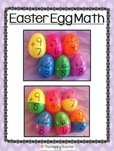 FREE - This product includes creative ideas for using plastic Easter eggs in your classroom. The product also includes a printable recording sheet for students to use! This will increase accountability if using the activity at work stations or math tubs.