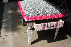 My fabulous ottoman bench specially designed and created by Andrea Gartee.  She is an amazing artist!   facebook.com/gartee.art