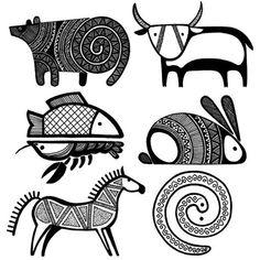 "Képtalálat a következőre: ""folk design art"" Native Art, Native American Art, Art And Illustration, Art Indien, Kunst Der Aborigines, Art Du Monde, Afrique Art, Indian Folk Art, Art Africain"