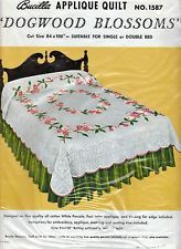 Beautiful Vintage NIP 1960s Bucilla Applique Quilt Kit 1587 Dogwood Blossoms NOS
