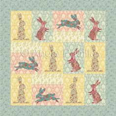 easter quilt patterns | Easter Bunnies | Quilt Patterns & Blocks | Angie's Bits 'n Pieces