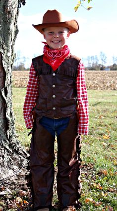 Cowboy costumes no sew and sew on pinterest cosplay pinterest diy kids cowboy costume solutioingenieria Choice Image